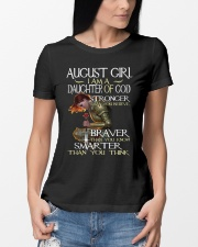AUGUST GIRL - I AM A DAUGHTER OF GOD Ladies T-Shirt lifestyle-women-crewneck-front-10