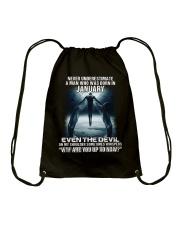 DEVIL WHISPERED - JANUARY Drawstring Bag thumbnail