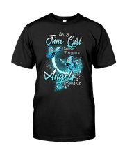 JUNE GIRL BELIEVE THERE ARE ANGELS AMONG US Classic T-Shirt thumbnail