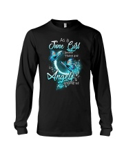 JUNE GIRL BELIEVE THERE ARE ANGELS AMONG US Long Sleeve Tee thumbnail