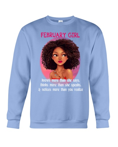 FEBRUARY GIRL - KNOWS MORE THAN SHE SAYS