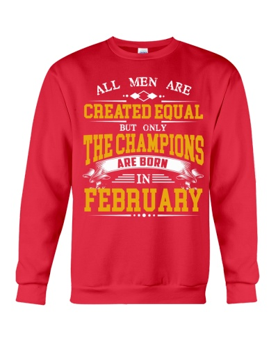 THE CHAMPIONS ARE BORN IN FEBRUARY