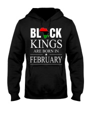BLACK KINGS ARE BORN IN FEBRUARY Hooded Sweatshirt thumbnail
