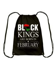 BLACK KINGS ARE BORN IN FEBRUARY Drawstring Bag thumbnail