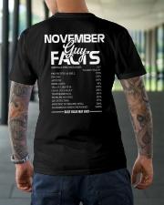 NOVEMBER GUY FACTS Classic T-Shirt lifestyle-mens-crewneck-back-3