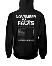 NOVEMBER GUY FACTS Hooded Sweatshirt thumbnail