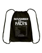 NOVEMBER GUY FACTS Drawstring Bag thumbnail