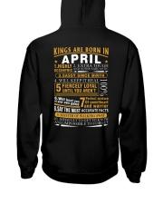 KINGS ARE BORN IN APRIL Hooded Sweatshirt thumbnail