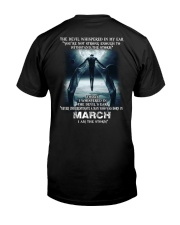 DEVIL WHISPERED - MARCH Classic T-Shirt back