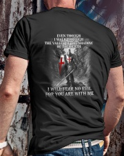 I WILL FEAR NO EVIL - WARRIOR OF CHRIST Classic T-Shirt lifestyle-mens-crewneck-back-2