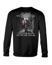 I WILL FEAR NO EVIL - WARRIOR OF CHRIST Crewneck Sweatshirt thumbnail