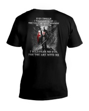 I WILL FEAR NO EVIL - WARRIOR OF CHRIST V-Neck T-Shirt thumbnail