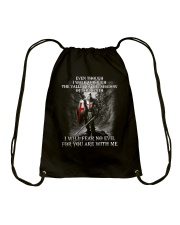 I WILL FEAR NO EVIL - WARRIOR OF CHRIST Drawstring Bag thumbnail
