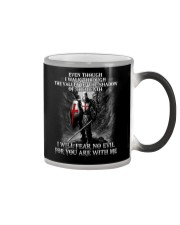 I WILL FEAR NO EVIL - WARRIOR OF CHRIST Color Changing Mug thumbnail