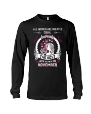THE BEST ARE BORN IN NEVEMBER Long Sleeve Tee thumbnail