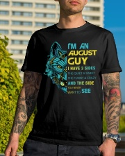 'M AN AUGUST GUY - I HAVE 3 SIDES Classic T-Shirt lifestyle-mens-crewneck-front-8