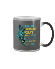 'M AN AUGUST GUY - I HAVE 3 SIDES Color Changing Mug color-changing-right