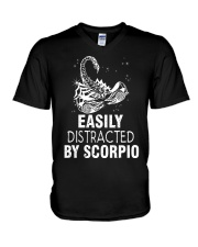 EASILY DISTRACTED BY SCORPIO V-Neck T-Shirt thumbnail