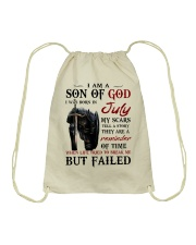 I AM A SON OF GOD I WAS BORN IN JULY Drawstring Bag thumbnail