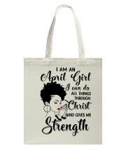 I AM AN APRIL GIRL Tote Bag thumbnail