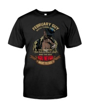 FEBRUARY GUY WITH THREE SIDES Classic T-Shirt front
