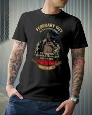 FEBRUARY GUY WITH THREE SIDES Classic T-Shirt lifestyle-mens-crewneck-front-6
