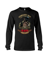 FEBRUARY GUY WITH THREE SIDES Long Sleeve Tee thumbnail