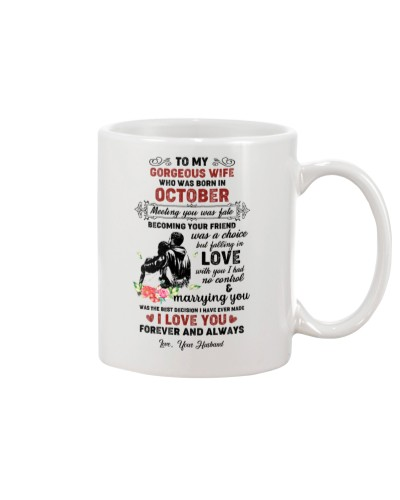 TO MY GORGEOUS WIFE WHO WAS BORN IN OCTOBER
