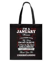 JANUARY WOMAN - LIMITED EDITION Tote Bag thumbnail