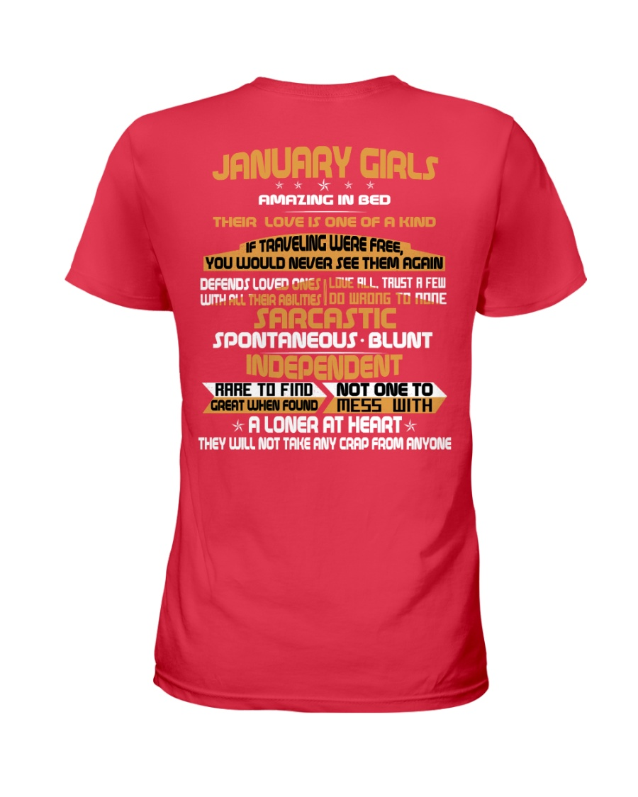 JANUARY GIRLS AMAZING IN BED Ladies T-Shirt