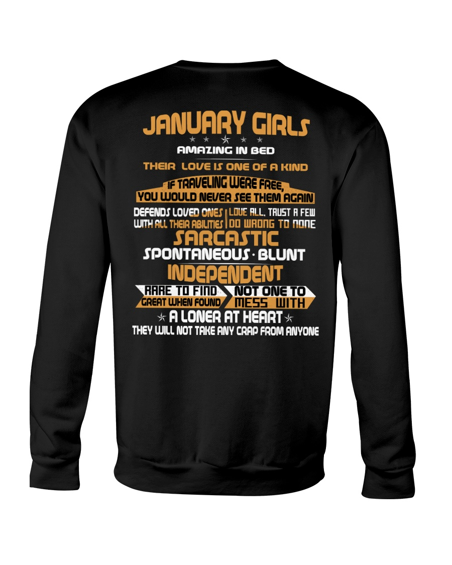 JANUARY GIRLS AMAZING IN BED Crewneck Sweatshirt