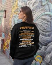 JANUARY GIRLS AMAZING IN BED Crewneck Sweatshirt lifestyle-unisex-sweatshirt-back-2