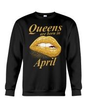 QUEENS ARE BORN IN APRIL Crewneck Sweatshirt thumbnail