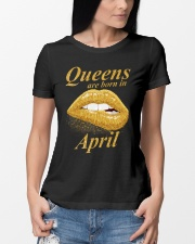 QUEENS ARE BORN IN APRIL Ladies T-Shirt lifestyle-women-crewneck-front-10