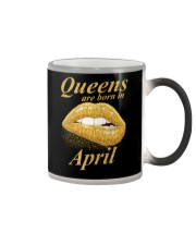 QUEENS ARE BORN IN APRIL Color Changing Mug thumbnail