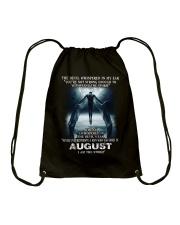 DEVIL WHISPERED - AUGUST Drawstring Bag thumbnail