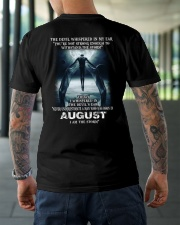DEVIL WHISPERED - AUGUST Classic T-Shirt lifestyle-mens-crewneck-back-3