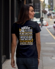 LEGENDS ARE BORN IN MAY Ladies T-Shirt lifestyle-women-crewneck-back-1
