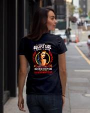 AS AN AUGUST GIRL Ladies T-Shirt lifestyle-women-crewneck-back-1