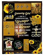 """JANUARY GIRL - SHE IS DAUGHTER OF GOD Small Fleece Blanket - 30"""" x 40"""" front"""
