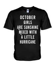 OCTOBER GIRLS ARE SUNSHINE  V-Neck T-Shirt tile