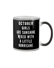 OCTOBER GIRLS ARE SUNSHINE  Color Changing Mug tile