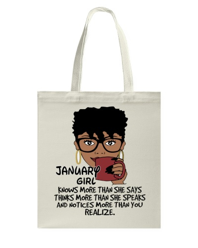 JANUARY GIRL KNOWS MORE THAN SHE SAYS
