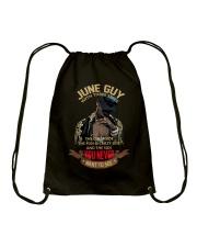 JUNE GUY WITH THREE SIDES Drawstring Bag thumbnail