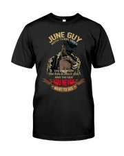 JUNE GUY WITH THREE SIDES Classic T-Shirt front