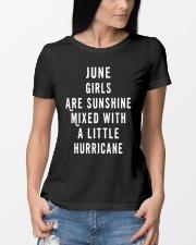 JUNE GIRLS ARE SUNSHINE  Ladies T-Shirt lifestyle-women-crewneck-front-10