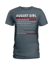 AUGUST GIRL FACTS Ladies T-Shirt front