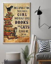 THERE WAS A GIRL WHO REALLY LOVED BOOKS AND CATS 16x24 Poster lifestyle-poster-1