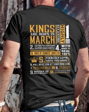 KINGS ARE BORN IN MARCH Classic T-Shirt lifestyle-mens-crewneck-back-2