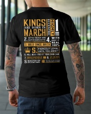KINGS ARE BORN IN MARCH Classic T-Shirt lifestyle-mens-crewneck-back-3